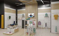 Дизайн детского магазина OLDOS KIDS коллекция торгового оборудования АКВАРЕЛИ Дизайн 23