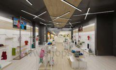 Дизайн детского магазина OLDOS KIDS коллекция торгового оборудования АКВАРЕЛИ Дизайн 24