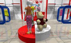 Дизайн детского магазина Дочки-Сыночки коллекция торгового оборудования АКВАРЕЛИ Дизайн 5
