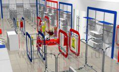 Дизайн детского магазина Дочки-Сыночки коллекция торгового оборудования АКВАРЕЛИ Дизайн 6
