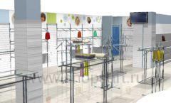 Дизайн детского магазина Планета детства ТРЦ Азовский коллекция торгового оборудования ГОЛУБАЯ ЛАГУНА Дизайн 05