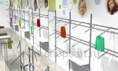Дизайн детского магазина Планета детства ТРЦ Азовский коллекция торгового оборудования ГОЛУБАЯ ЛАГУНА Дизайн 11
