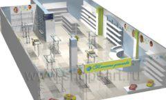 Дизайн детского магазина Планета детства ТРЦ Азовский коллекция торгового оборудования ГОЛУБАЯ ЛАГУНА Дизайн 16