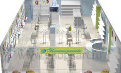 Дизайн детского магазина Планета детства ТРЦ Азовский коллекция торгового оборудования ГОЛУБАЯ ЛАГУНА Дизайн 17