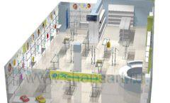 Дизайн детского магазина Планета детства ТРЦ Азовский коллекция торгового оборудования ГОЛУБАЯ ЛАГУНА Дизайн 18