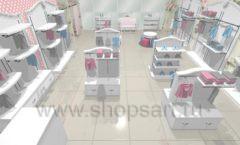 Дизайн детского магазина 1 торговое оборудование МОНАЛИЗА Дизайн 1