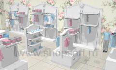 Дизайн детского магазина 1 торговое оборудование МОНАЛИЗА Дизайн 2