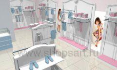 Дизайн детского магазина 2 торговое оборудование МОНАЛИЗА Дизайн 1