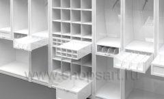 Дизайн торгового оборудования детского магазина Винни Рублевкое шоссе коллекция БЕЛАЯ КЛАССИКА Дизайн 3