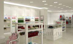 Дизайн детского магазина Винни ТЦ Dream House Барвиха коллекция торгового оборудования БЕЛАЯ КЛАССИКА Дизайн 01
