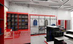 Дизайн магазина одежды коллекция торгового оборудования КРАСНАЯ ЛИНИЯ Дизайн 01