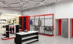 Дизайн магазина одежды коллекция торгового оборудования КРАСНАЯ ЛИНИЯ Дизайн 04