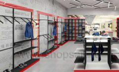 Дизайн магазина одежды коллекция торгового оборудования КРАСНАЯ ЛИНИЯ Дизайн 07