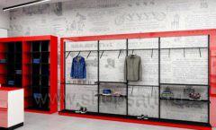 Дизайн магазина одежды коллекция торгового оборудования КРАСНАЯ ЛИНИЯ Дизайн 09