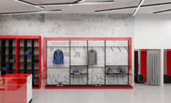 Дизайн магазина одежды коллекция торгового оборудования КРАСНАЯ ЛИНИЯ Дизайн 10