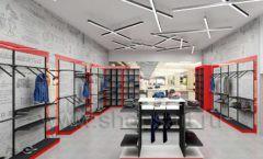 Дизайн магазина одежды коллекция торгового оборудования КРАСНАЯ ЛИНИЯ Дизайн 11