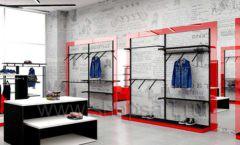 Дизайн магазина одежды коллекция торгового оборудования КРАСНАЯ ЛИНИЯ Дизайн 12