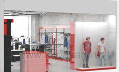 Дизайн магазина одежды коллекция торгового оборудования КРАСНАЯ ЛИНИЯ Дизайн 13