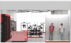 Дизайн магазина одежды коллекция торгового оборудования КРАСНАЯ ЛИНИЯ Дизайн 14