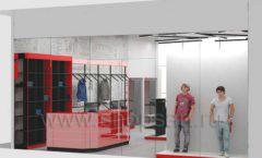 Дизайн магазина одежды коллекция торгового оборудования КРАСНАЯ ЛИНИЯ Дизайн 15